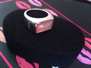 JOOP! - Silberring mit rosa&weißem Inlay und JOOP! Kornblume