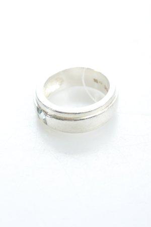 Joop! Silberring silberfarben Schmucksteinverzierung