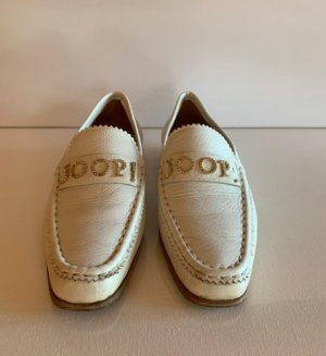 Joop! Slippers white leather