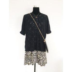 Joop! Sommer oversize Feinstrick Pullover Ausbrenner Logo Muster schwarz 38 40