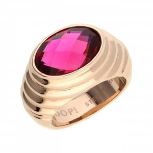 Joop! Statement Ring rose-gold-coloured-bordeaux