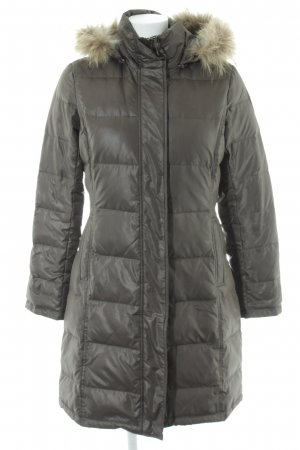 Joop! Gewatteerde jas grijs-bruin quilten patroon zakelijke stijl