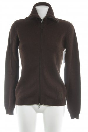 Joop! Strickjacke braun meliert Casual-Look