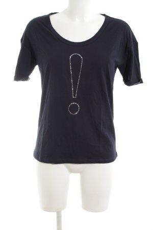 Joop! T-Shirt schwarz-silberfarben Motivdruck Casual-Look