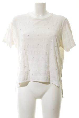Joop! T-Shirt wollweiß Streifenmuster Elegant