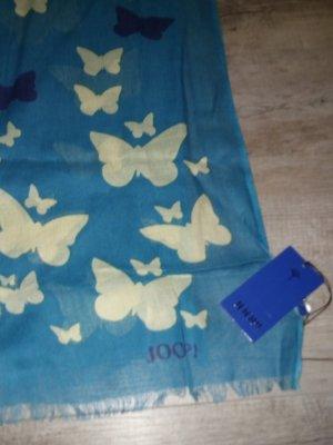Joop Tuch Schal türkis Schmetterlinge butterflies NEU mit Etikett!