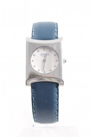 Joop! Watch With Leather Strap silver-colored-petrol classic style