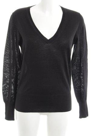 Joop! V-Ausschnitt-Pullover schwarz Casual-Look