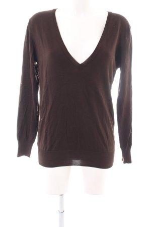Joop! V-Ausschnitt-Pullover bronzefarben Casual-Look