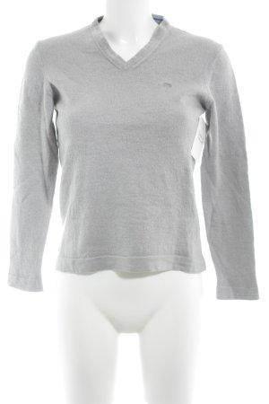 Joop! V-Ausschnitt-Pullover hellgrau Casual-Look