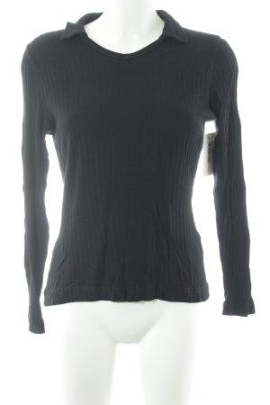 Joop! V-Ausschnitt-Pullover schwarz schlichter Stil