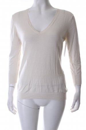 Joop! V-Ausschnitt-Pullover wollweiß klassischer Stil