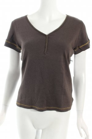 Joop! V-Ausschnitt-Shirt braun-goldfarben Casual-Look