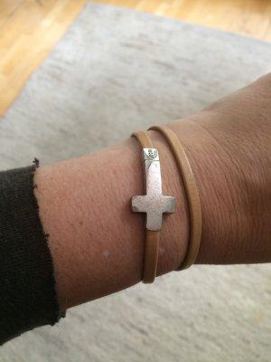 Joop Wickelarmband mit Kreuz aus Silber