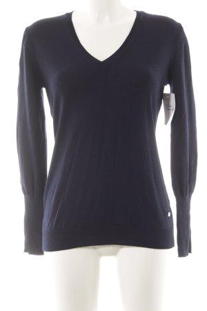 Joop! Maglione di lana blu scuro stile classico