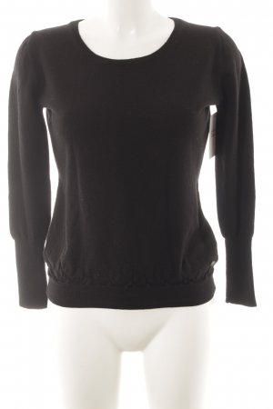 Joop! Maglione di lana nero stile classico