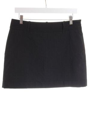 Joop! Wollen rok zwart-grijs krijtstreep casual uitstraling