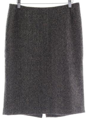 Joop! Wollen rok zwart-grijs-bruin gestippeld klassieke stijl