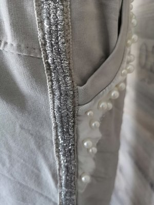 Joppants Hose NEU ✔ mit BLING BLING + PERLEN Jogpants Jeggings Sweathose Sweater Jogger Freizeithose passt bei S-L