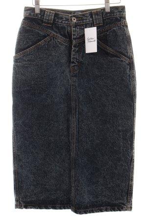 Jordache Jeansrock dunkelblau-weiß