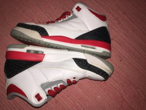 JORDAN Air Jordan 3 Retro Schuhe weiß rot