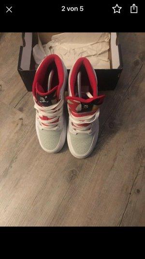 Jordan Zapatos de patinador blanco-rojo