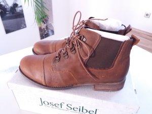 Josef Seibel Damen Stiefelette Schuhe braun cognac Gr. 43 NEU
