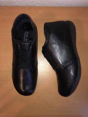 Josef Seibel Faye 43 Stiefeletten Boots Slipper Keilabsatz 36 Schwarz Neu