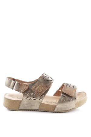 Josef seibel Beach Sandals gold-colored-silver-colored casual look