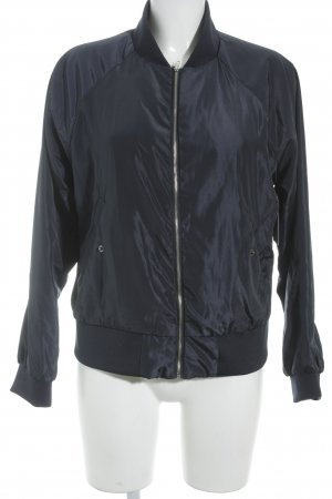 Josefin Ekström for NA-KD Bomber Jacket dark blue simple style