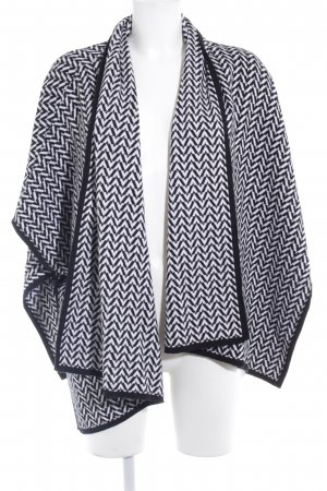 Joseph Janard Poncho black-white zigzag pattern casual look