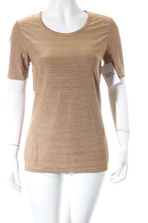 Joseph Janard T-Shirt bronzefarben Metallic-Optik