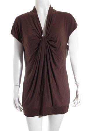 Joseph Janard T-Shirt dunkelbraun klassischer Stil