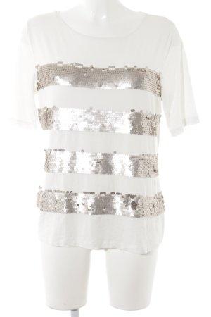 Joseph Janard T-Shirt weiß-roségoldfarben Party-Look