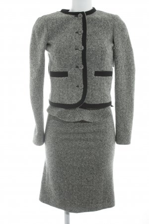 Joseph Kostüm grau-wollweiß Zackenmuster Business-Look