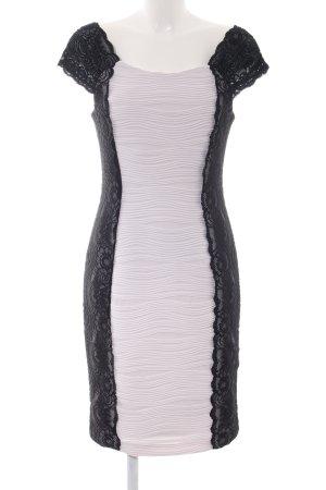 Joseph Ribkoff Abendkleid schwarz-weiß Streifenmuster Elegant