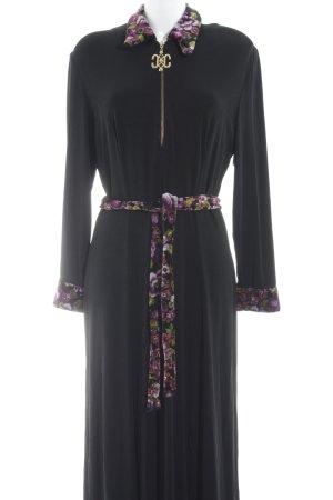 Joseph Ribkoff Abendkleid schwarz Blumenmuster extravaganter Stil