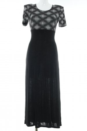 Joseph Ribkoff Avondjurk zwart-wit gestippeld patroon elegant
