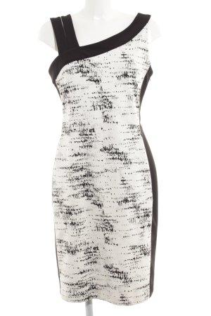 Joseph Ribkoff Bleistiftkleid schwarz-weiß abstraktes Muster Elegant