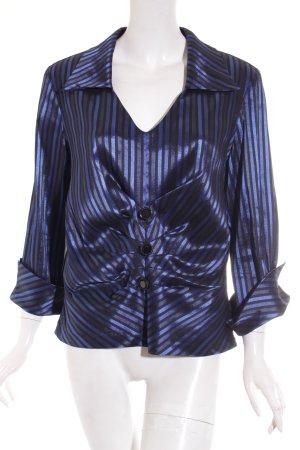 Joseph Ribkoff Blusentop schwarz-dunkelblau Streifenmuster extravaganter Stil