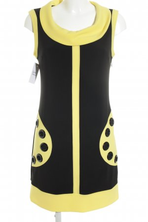 Joseph Ribkoff Etuikleid neongelb-schwarz extravaganter Stil