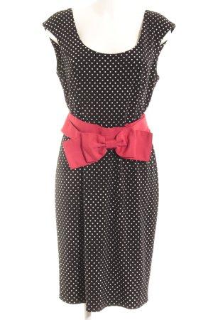 Joseph Ribkoff Manteljurk zwart-wit gestippeld patroon Jaren 60 stijl