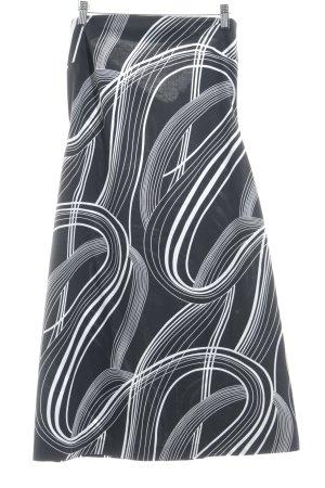 Joseph Ribkoff High Waist Rock schwarz-weiß Streifenmuster Retro-Look