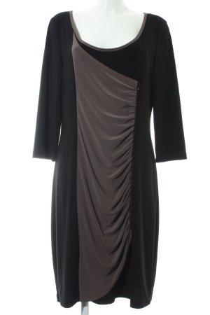 Joseph Ribkoff Jerseykleid schwarz-graubraun Elegant