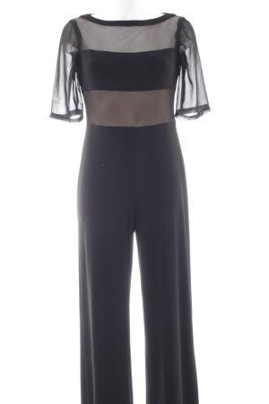 Joseph Ribkoff Jumpsuit zwart Net-look