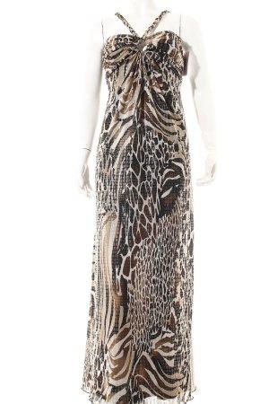 Joseph Ribkoff Kleid beige-schwarz Animalmuster Casual-Look