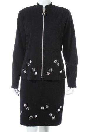 Joseph Ribkoff Kostüm schwarz-silberfarben Business-Look