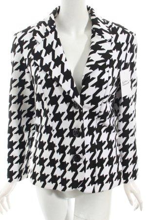 Joseph Ribkoff Kurz-Blazer schwarz-weiß grafisches Muster extravaganter Stil