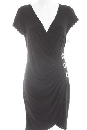 Joseph Ribkoff Kurzarmkleid schwarz extravaganter Stil