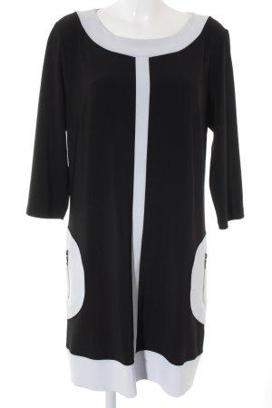 Joseph Ribkoff Robe à manches courtes noir-gris clair élégant